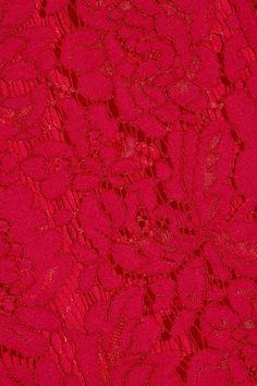 Diane von Furstenberg - Glimmer Corded Lace Pencil Skirt - Red - US2