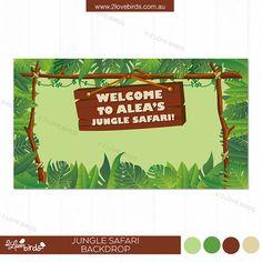Jungle Safari Printable Backdrop by 2LoveBirdsDesign on Etsy