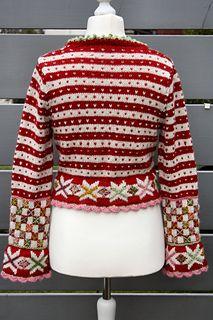 Boleros Ravelry: Bolero Fritt etter Fana pattern by Sidsel J. Knitted Flower Pattern, Knit Vest Pattern, Knitted Flowers, Knitting Stiches, Knitting Charts, Knitting Patterns Free, Free Knitting, Free Pattern, Diy Crochet
