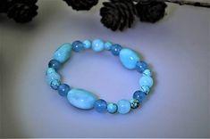 Sima-polodrahokamy / amazonit,tyrkenit a jadeit náramok letný Lapis Lazuli, Beaded Bracelets, Jewelry, Jewlery, Jewels, Jewerly, Jewelery, Seed Bead Bracelets, Pearl Bracelet