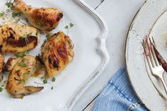 Grilled Chicken with Blackberry Balsamic Sauce: photo by Alice Gao for Kinfolk V. 12