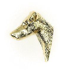 Fox-terrier à Poil Lisse Made in UK, Collection Épingle Artistique Style Chien (plaqué or à 22 catats)