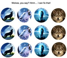 FREEBIES!!! Hard to find WOLF BCIs! Don't you love them? I just made them! <3 the image for more custom HTG BCIs!