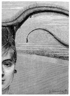 El sueño irreversible (1994) Collage 8 x 11 Cm.