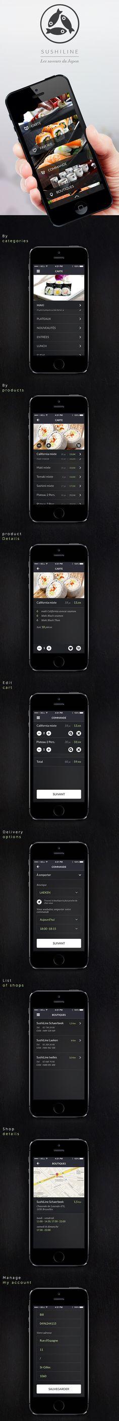 Sushi Line Restaurant - Mobile App on Behance
