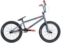 KHE Bikes Root 180 BMX Bike, Grey/Blue, 20.6-Inch - http://www.bicyclestoredirect.com/khe-bikes-root-180-bmx-bike-greyblue-20-6-inch/