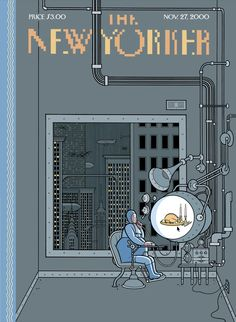 """newmanology: """"The New Yorker, November 2000 Illustration: Chris Ware See 11 great Thanksgiving covers of The New Yorker here """" The New Yorker, New Yorker Covers, Capas New Yorker, Chris Ware, Magazine Cover Design, Magazine Covers, Magazine Art, Illustration, Cover Art"""