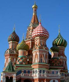 St. Basil's, Moscow, Russia. Absolutely beautiful. Will see it someday.