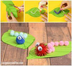 Adorable Caterpillar Pom Pom Craft
