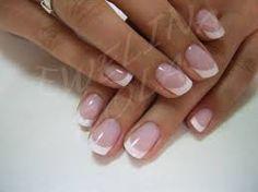 Znalezione obrazy dla zapytania french manicure ślubny