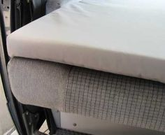 """2"""" Mattress Topper - Lower Bed (Gray) [Vanagon Camper] - GoWesty Camper Products - parts supplier for VW Vanagon, Eurovan, and Bus"""