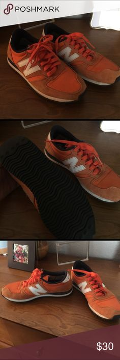 New balance size 6 Vintage design orange and white they are size 4 in kids but 5.5 / 6 in women's . Super great condition  ready for summer . No low ball offers will be accepted. New Balance Shoes Athletic Shoes