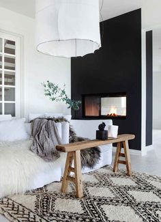 Dark accent wall.