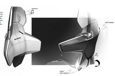 Scania Interior Design Sketches by Arash Karimi