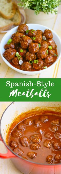 Spanish-Style Meatballs are a delicious appetizer perfect for any party. They're easy to make, and will be the hit at your next gathering!