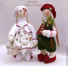 Купить Зайцы.Новогодние зайцы. - Новый Год, новогодний подарок, подарок, зайцы, зайцы тильда