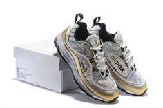 fa1b685da5 Mens Shoes Nike Air Max 98 Summit White Metallic Gold AJ6302 100 Metallic  Gold, Kicks