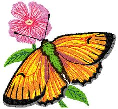 4X4 Butterfly Embroidery Design 288 | Free Embroidery Designs Download | Free Machine Embroidery Designs | Free Embroidery Patterns