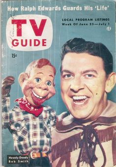 Howdy Doody show Watched from the peanut gallery every day after school!  1951