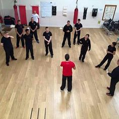 Master Paul going through the New material with the Kungfu schools team this morning