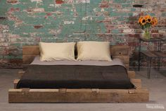 rustic-industrial-bedroom-interior  I love this bedroom! If only there were a DIY for this bed.