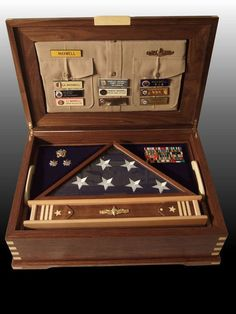 Retirement Shadow Box with case