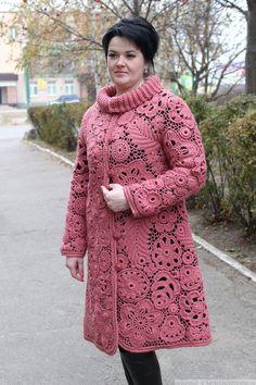 Пальто Сухая роза изделие ручной работы на заказ