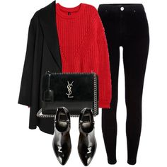 A fashion look from February 2018 by laurenmboot featuring Agnona, River Island, Dolce Vita and Yves Saint Laurent