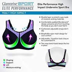 740b763e372b0 Glamorise Women s Full Figure High Impact Wonderwire Sports Bra  9066 at  Amazon Women s Clothing store