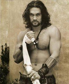Jason Momoa...I will SO be his Khaleesi!!