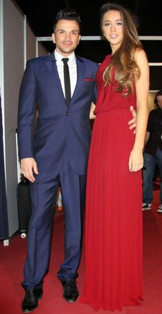 27ef301b14 Peter Andre s gorgeous girlfriend Emily wearing our Trinity maxi dress. Gorgeous  Couture