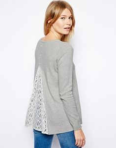 sweater with lace insert / asos