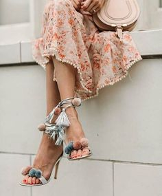 Instagram media by style_without_word - Summer vibes with a flowy dress and tassel heels 🍡 @real.shoes for shoping link in bio . . . . . . . . #streetlook #streetchic #streetwear #streetfashion #street #schön #beauty #moda #chic #fashiobaby #fashion #fashionlove #fashionpost #fashioninspo #fashionlovers #fashiongirl #fashionicon #fashionlover #fashionbaby #fashionbomb #outfit #outfitinspiration #fashioninspiration #spain #dress #pompom #chloe #mallorca #shoes #pastelcolors