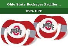 """Ohio State Buckeyes Pacifiers 2 Pack Safe BPA Free. Ohio State Buckeyes Pacifiers 2 Pack Safe BPA Free. Soothe your little fan with officially licensed MLB pacifiers. These orthodontic pacifiers have been voted """"MVPs"""" (Most Valuable Pacifiers) by Moms everywhere. Silicone nipple on pacifier. Ages 3-6 months recommended."""
