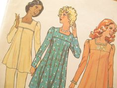 70's Vintage Maternity Dress/Shirt and Pants Sewing Pattern: Simplicity 6683, Bust 34. $8.00, via Etsy.