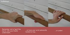 Where NOT to place your hand at barre!