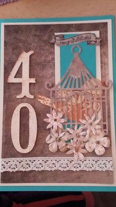 Karte zum 40. Geburtstag