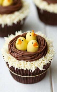 Cutest Easter Cupcakes Ever. Whether you are hosting or looking for ideas and inspiration to bring dessert for Easter, here is a collection of Cupcakes! Easter Recipes, Holiday Recipes, Oster Cupcakes, Mocha Cupcakes, Gourmet Cupcakes, Velvet Cupcakes, Vanilla Cupcakes, Delicious Cupcakes, Chocolate Cupcakes
