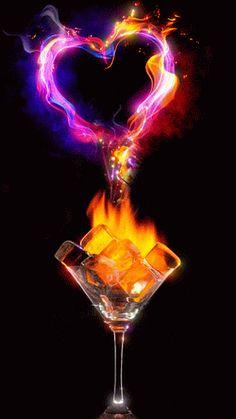 Decent Image Scraps: Love 2....love on fire