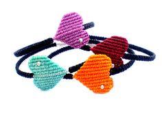 Bracelets macrame. Bracelets with heart. Bracelets for by asmina