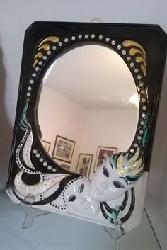 Specchio fatto da me in gesso e poi dipinto