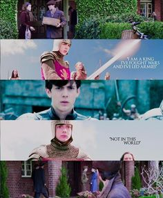 """Voyage of the Dawn Treader Quote  Edmund : """"I use to fight wars and lead armies."""" Lucy : """" Not in this world."""""""