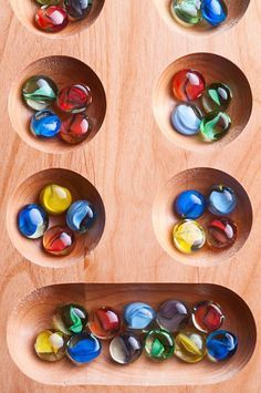 Learn the complete rules of the standard two-rank Mancala variant, which is also known as Kalah. This is an ancient board game. Dice Games, Activity Games, Math Games, Family Card Games, Fun Card Games, Games For Kids, Games To Play, Playing Games, Geek House