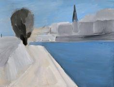 Nicolas De Staël - view on the quays of Paris 1954