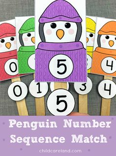 Number matching activity for preschool and kindergarten. Early Learning Activities, Number Activities, Sequencing Activities, Classroom Activities, Activities For Kids, Classroom Ideas, Baby Reflexology, Number Sequence, Michaels Craft