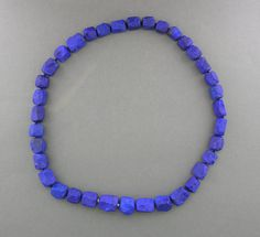 hammered lapis beads - llyn strong