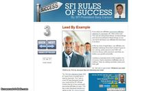 SFI 3rd Rule Of Success    Lead By Example