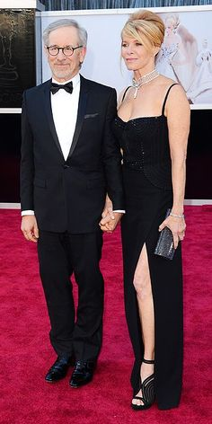 STEVEN SPIELBERG AND KATE CAPSHAW  #Oscars #STYLAMERICAN #RedCarpet