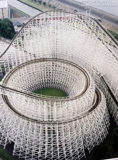 White Cyclone (Rollercoaster) at Nagashima Spa Land, Japan