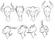 Art reference horns _ art reference poses, art re. Cartoon Drawings, Animal Drawings, Drawing Sketches, Art Drawings, Drawing Reference Poses, Character Drawing, Character Design Inspiration, Monster, Art Sketchbook
